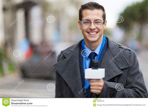 Working Desk News Reporter Working Royalty Free Stock Image Image