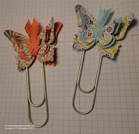 How To Make A Paper Clip Bookmark - butterfly paper clip bookmarks 3 d projects