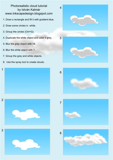 inkscape tutorial deutsch video photorealistic clouds in inkscape anything vector