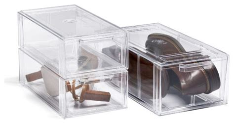 clear shoe drawers modern wardrobe storage by the