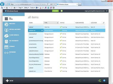 windows azure updates create full service cloud