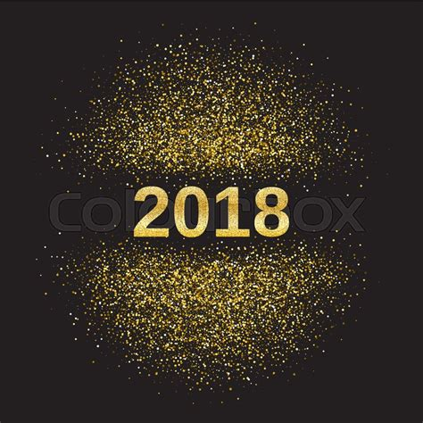 new year 2018 element gold glitter happy new year 2018 background glittering