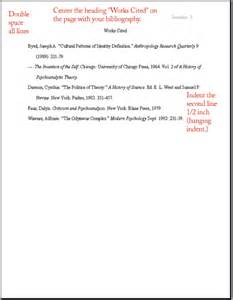 5 mla format bibliography example bibliography format