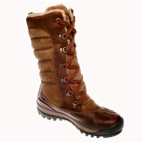 timberland laced knee high brown leather boots ebay