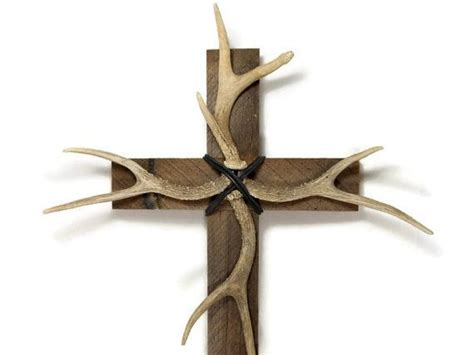 deer antler decor deer antler antler decor 14 quot x 24 quot barnwood cross