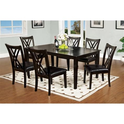 Overstock Dining Table Set Furniture Of America Sophala Contemporary 7 Espresso Finish Dining Set Overstock