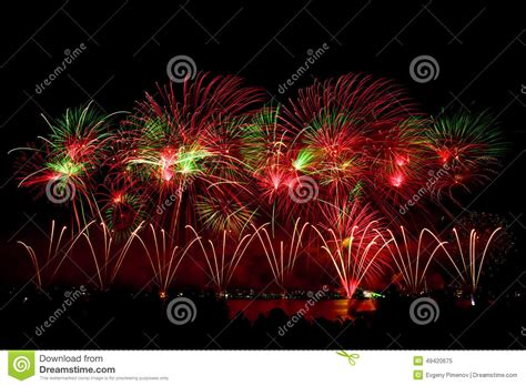 new year fireworks perth 2015 fireworks on australian day in perth 2015 stock image