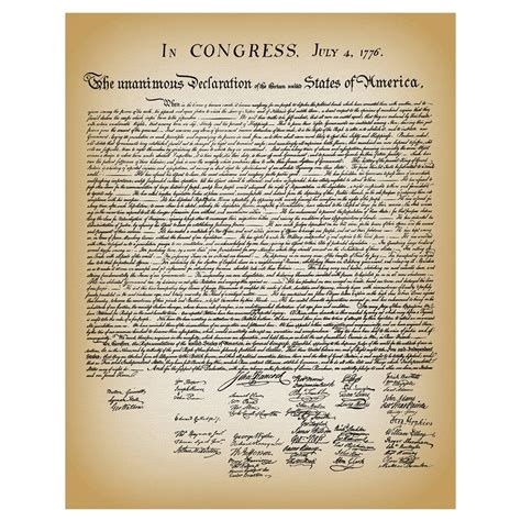 printable declaration of independence declaration of independence library of congress shop