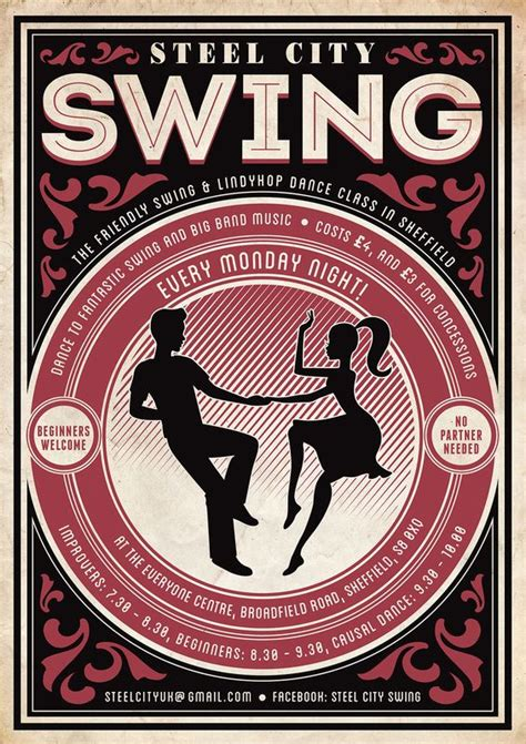 swing plakat steel city swing poster swing