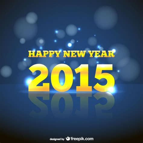 new year and yellow new year card with yellow letters vector free