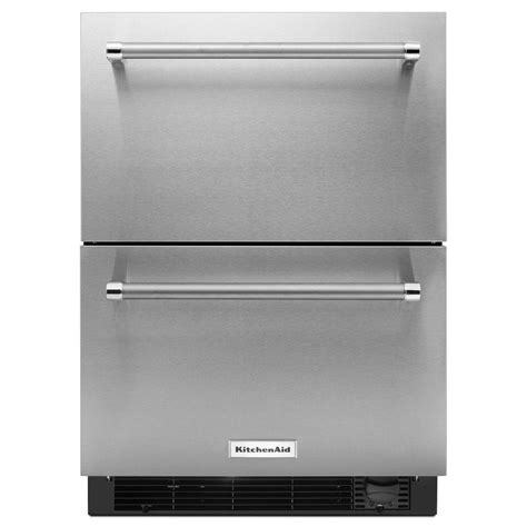 kitchenaid 24 in w 4 7 cu ft drawer refrigerator