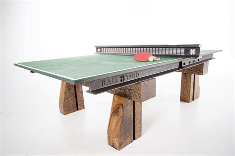 Railroad Furniture by This Ping Pong Table Is Made From Railroad Tracks And Ties