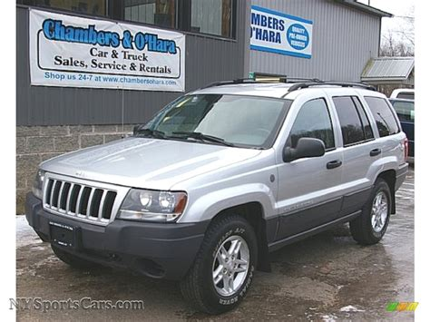 2004 jeep grand silver 2004 jeep grand laredo 4x4 in bright silver
