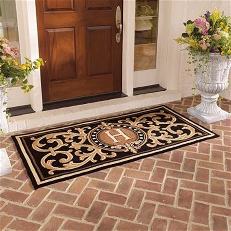 Monogrammed Entry Door Mat by Berkeley Monogrammed Front Door Mat Home