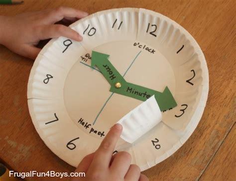 Make A Paper Clock Template - 4 juegos infantiles para aprender la hora pequeocio