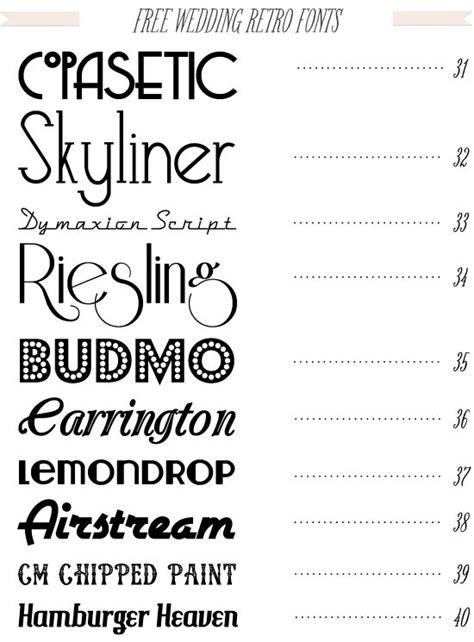 dafont wedding fonts diy wedding invitations and retro font on pinterest