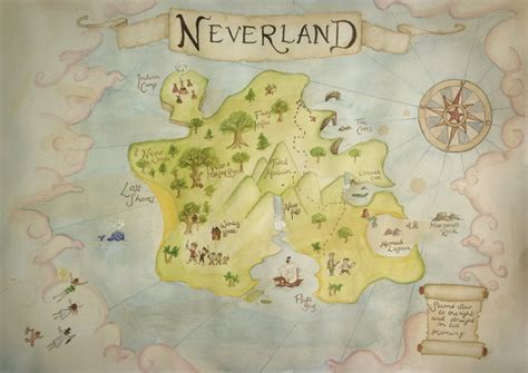 neverland map maps of neverland cake ideas and designs