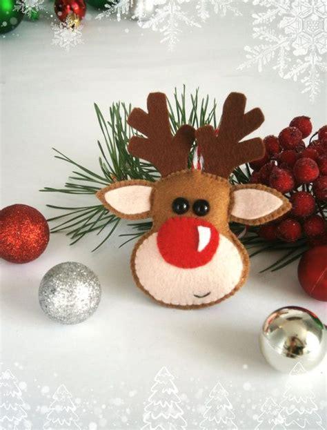 christmas ornaments felt rudolph reindeer ornament