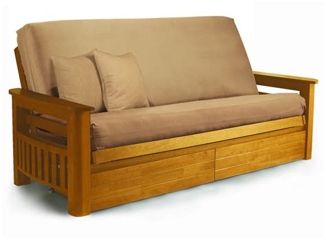 wood futon guest bed folding guest beds