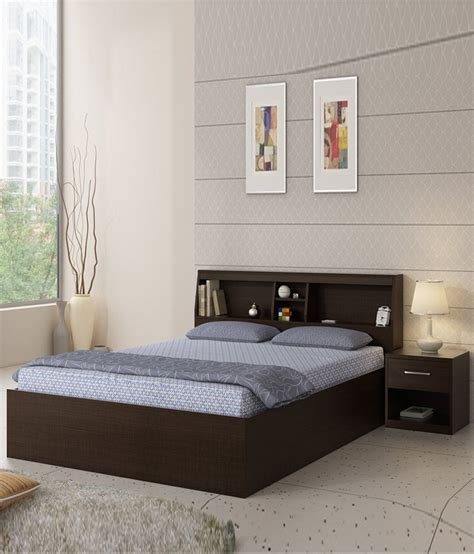 queen size bed prices spacewood arcade queen size bed with side table buy