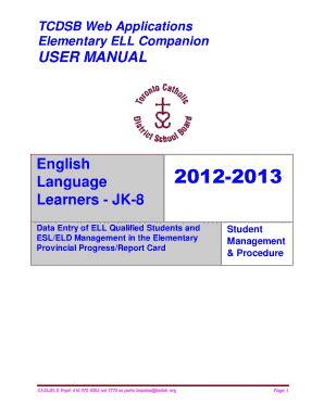 Tcdsb Report Card Template