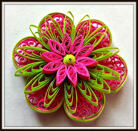 Paper Quilling Craft - trupti s craft paper quilling flowers