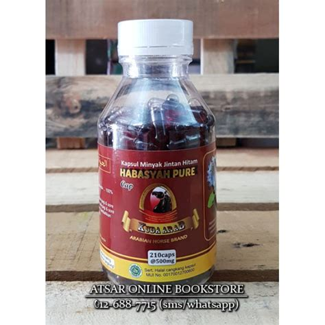 Minyak Goreng Cap Kuda habbatus sauda 210 kapsul minyak cap kuda arab