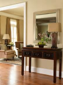 Entryway Table With Mirror Classic Entryway With Traditional Table And Mirror Hgtv