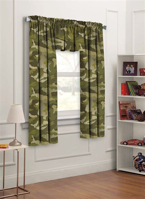 camouflage curtains for kids kids curtains geo camo 3pc set bedroom window panels 42x63