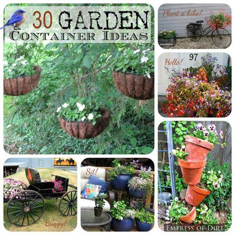 creative garden ideas container gardening ideas photograph 30 creative garden co