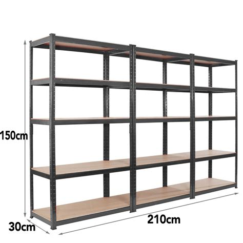 metal garage shelving 3 bay150cm 5 tier heavy duty boltless metal shelving shelves storage unit garage