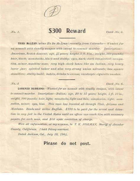 La Plata County Warrant Search 1904 Warrant Paper Caribou Antiques