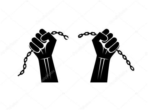manos cadenas rotas cadenas rotas por las manos archivo im 225 genes vectoriales