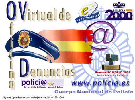 oficina virtual policia nacional oficina virtual de denuncias