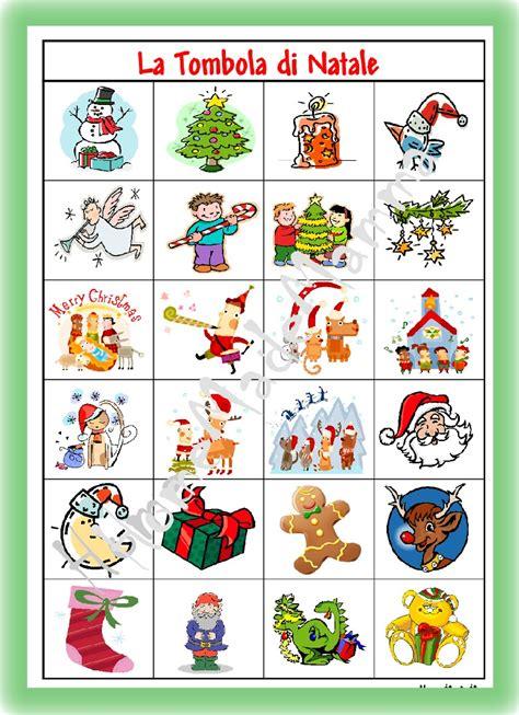 tavola tabelline da stare giochi natalizi per bambini la tombola e il memory di