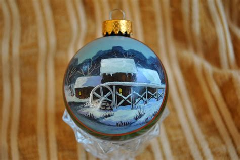 custom hand painted ornaments  annetastic designs