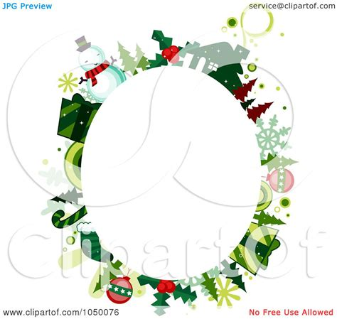 oval christmas frames royalty free rf clip illustration of an oval frame of items around copyspace by