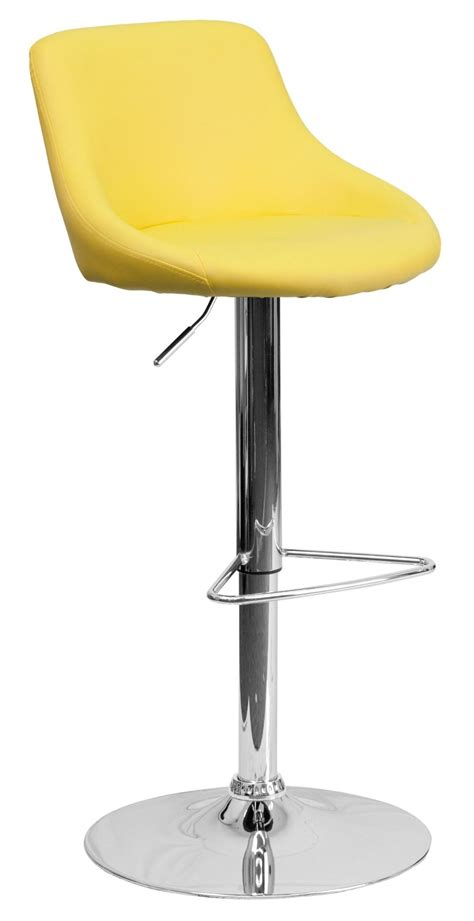 Yellow Stools by Yellow Vinyl Seat Adjustable Height Bar Stool Ch