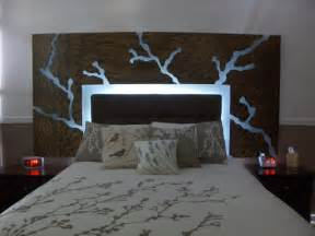 this floating headboard is awesome inside the home