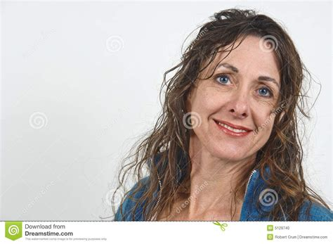 Attractive Middle Aged Women Dark Hair | attractive middle aged woman stock photo image 5129740