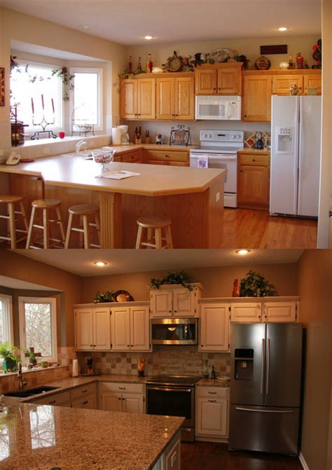 refinishing golden oak kitchen cabinets kitchen refinish golden oak to java creme