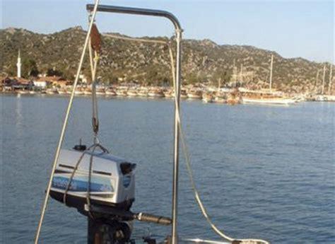 boat motor hoist make an outboard motor hoist practical boat owner
