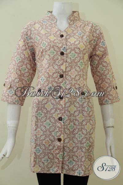 Kemeja Pastel Katun Wanita Kode753189 baju batik warna pastel baju batik kemeja primis motif batik unik warna pastel baju muslim