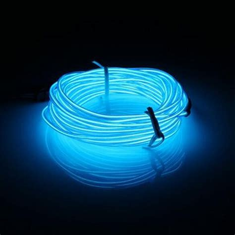 Neon Light El Wire el wire led neon light glow strobing electroluminescent rope 3017 ebay
