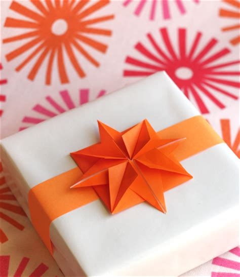 Origami Gift Bow - origami paper for garlands or gifts how about orange