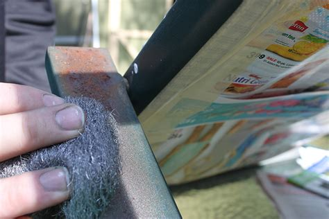 Removing Paint From Metal Furniture by Refurbish Outdoor Furniture With Spray Paint Like New 1