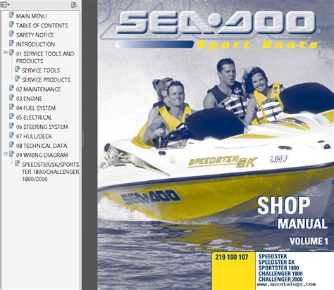 sea doo boat owners manual sea doo sport boats challenger speedster sportster pdf