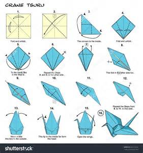 Origami Crane Directions - origami make origami bird steps how to make paper parrot