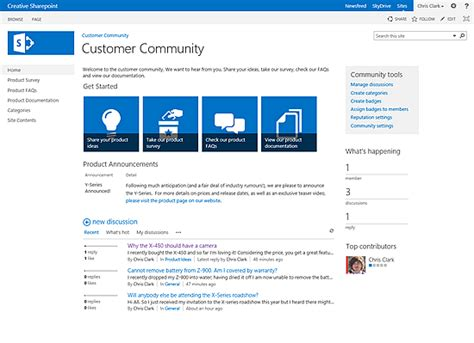 sharepoint 2013 site templates what is a sharepoint 2013 community site