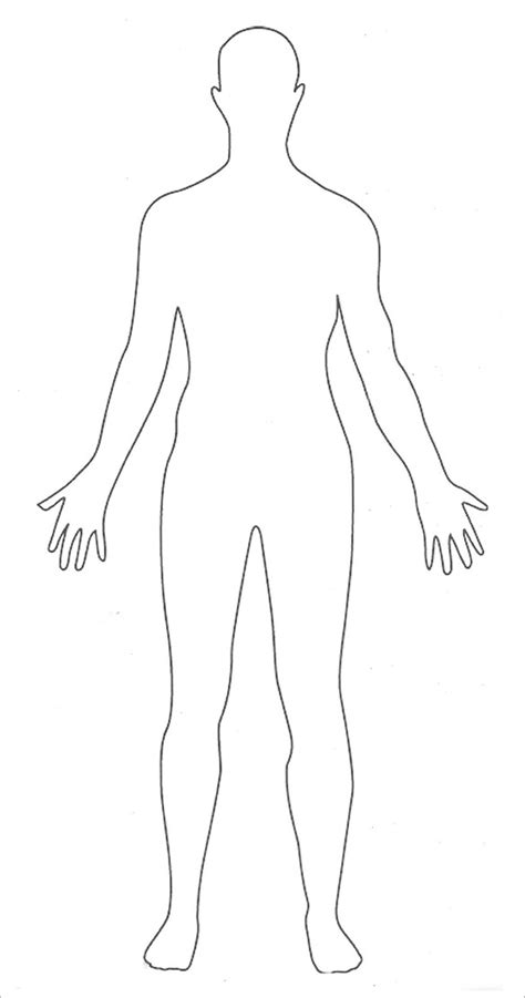 Blank Body Diagram Defenderauto Info Human Printable